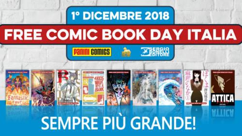 Copertina articolo: Free Comic Book Day Italia 2018